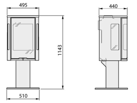 dimension poele a bois po le bois aratos maison et. Black Bedroom Furniture Sets. Home Design Ideas